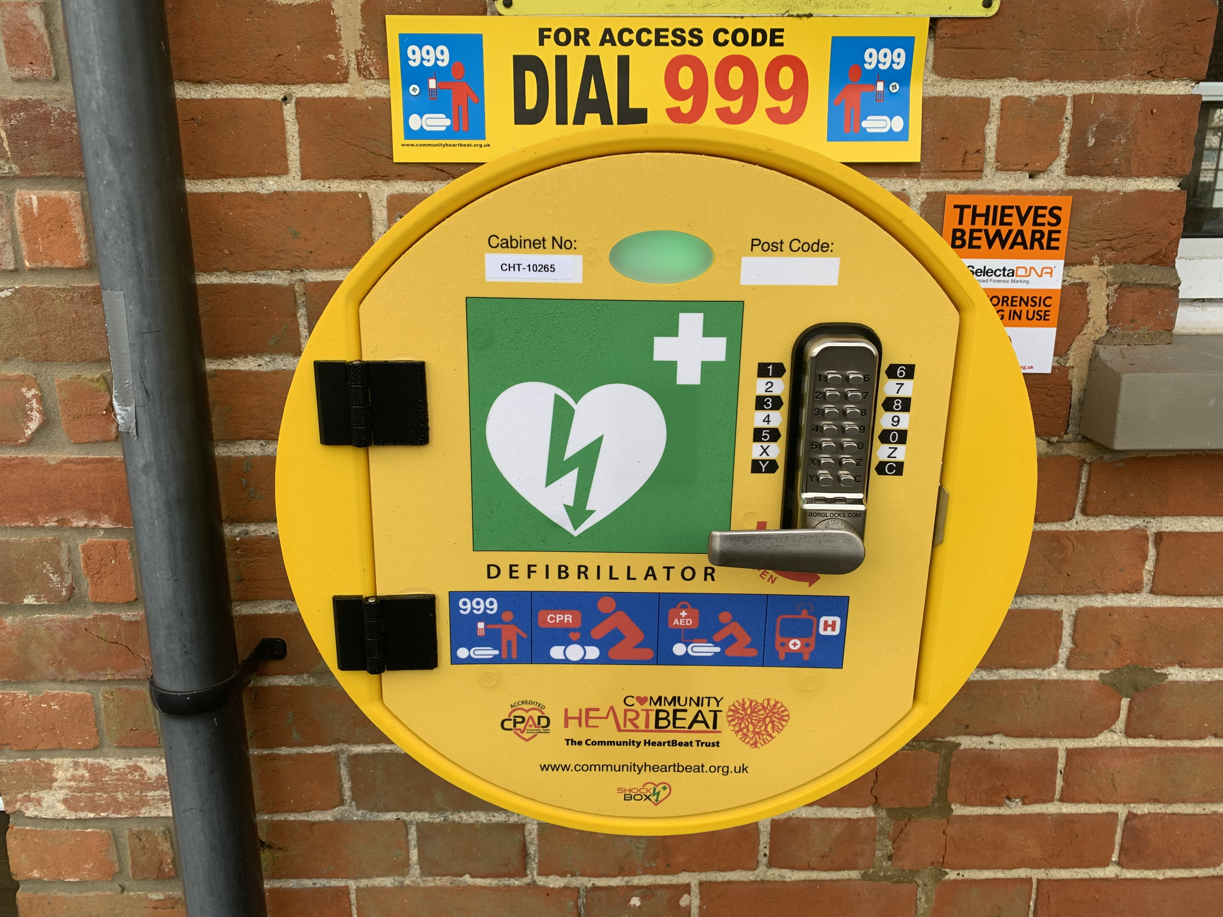 Community Defibrillator installed and tested